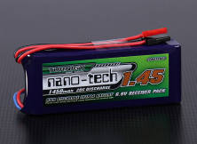 Turnigy nano-tech 1450mAh 2S 20C LiFePo4 для приемников
