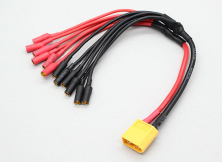 Разветвитель питания XT60 to 6 X 3.5mm bullet Multistar ESC Power Breakout Cable